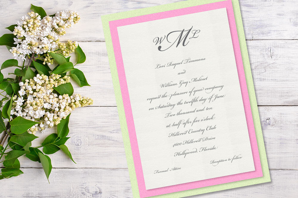Luxury Wedding Invitations | Patti and Hank