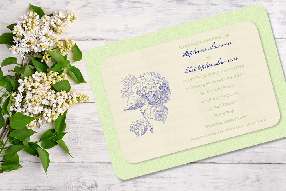 Elegant Wedding Invitations | Patti and Hank