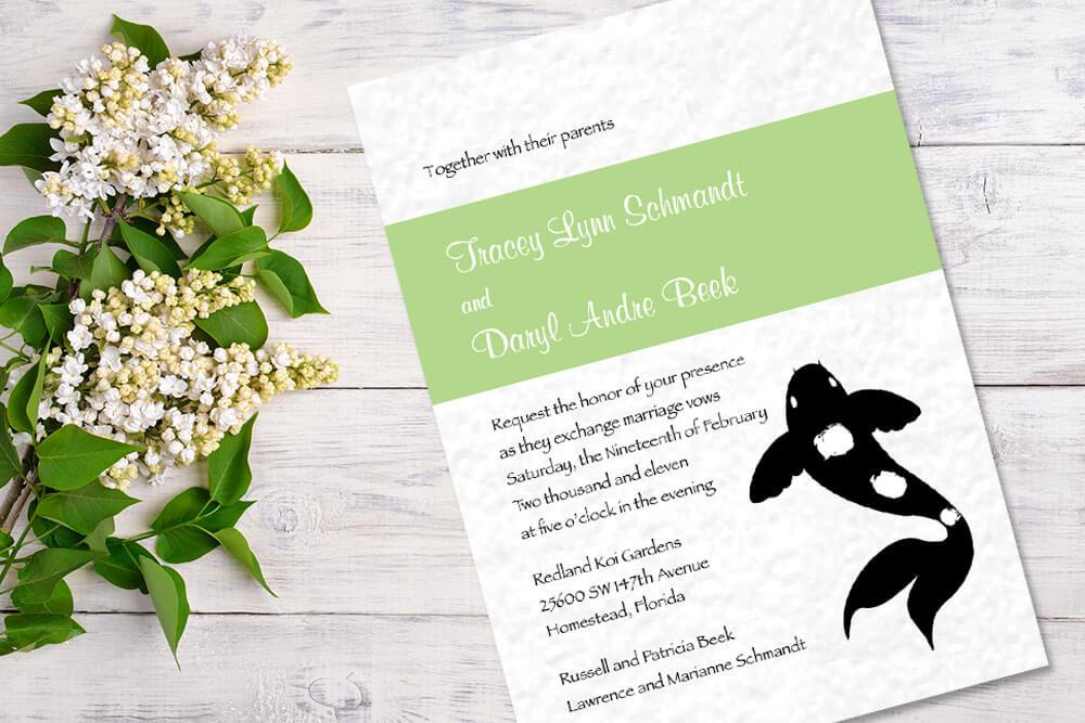 Elegant Wedding Invitations | Patti and Hank
