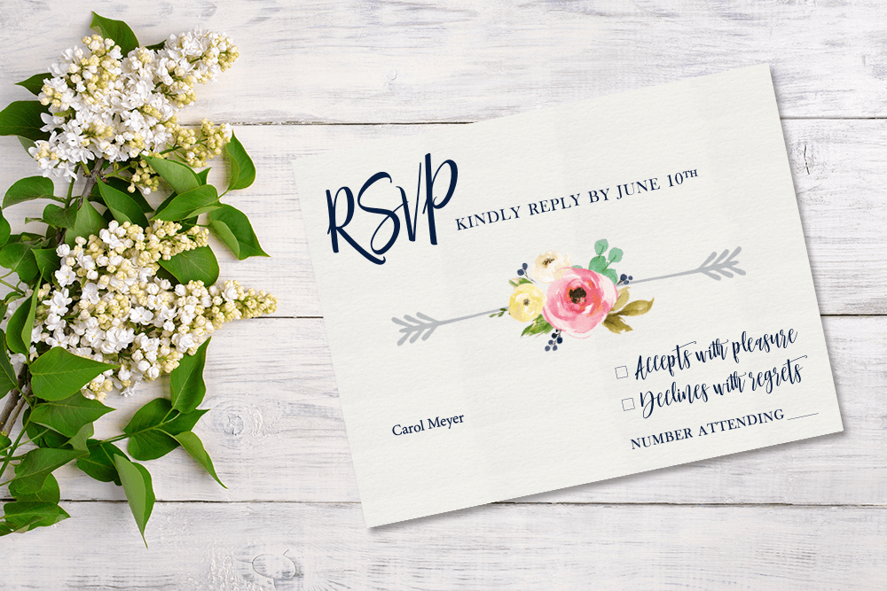 RSVP Card - Patti and Hank