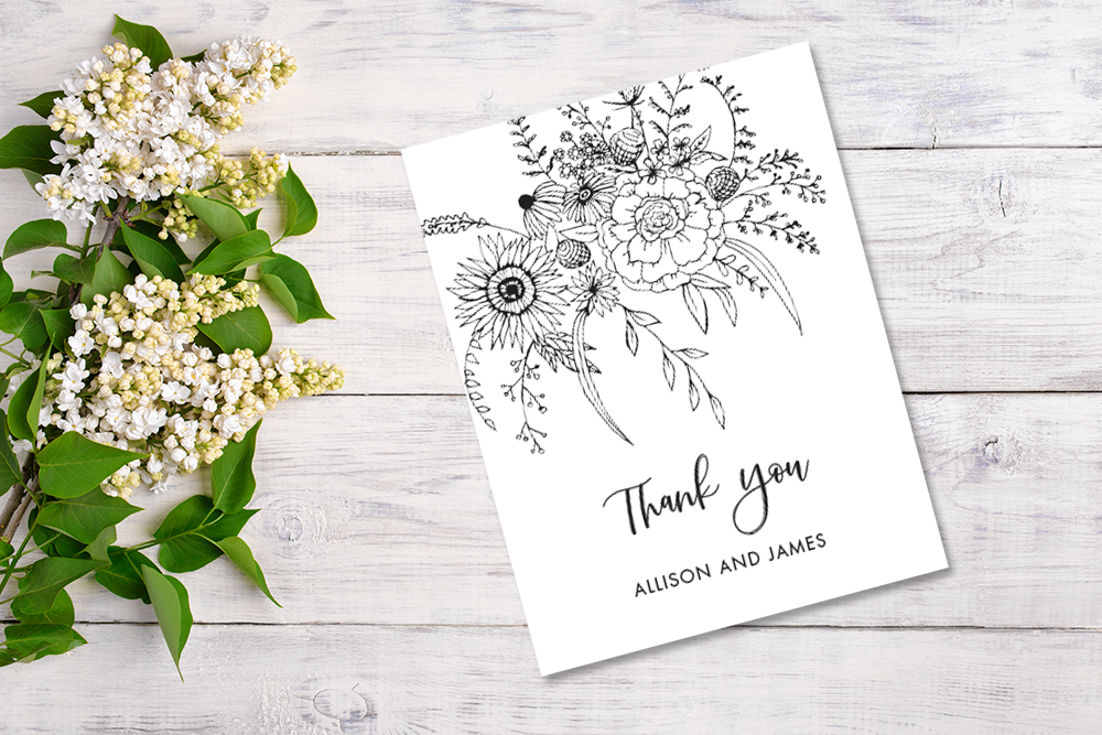 Image of the Thank You card