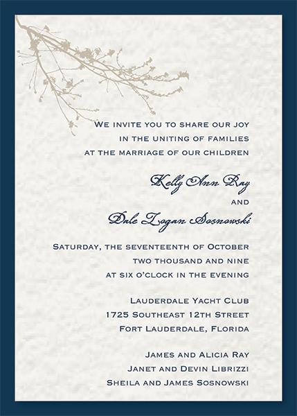 Luxury Wedding Invitations | Patti and Hank