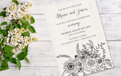A late summer wedding